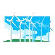 Alternative Energy Wind Power Stock Illustration