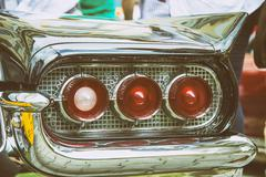 vintage old time rear lights - stock photo