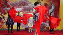 Stock Video Footage of Chinese old women's rehearsal dance in Shenzhen, China