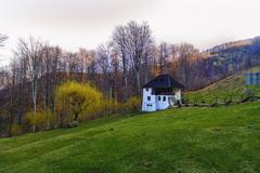 Stock Photo of Pachomius schitu Carpathian Mountains Romania