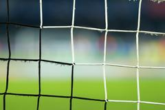 Soccer goal net Stock Photos