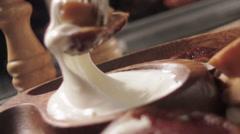 Food marinated mushrooms slow motion 6 - stock footage