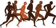 Ancient Greek figure - stock illustration
