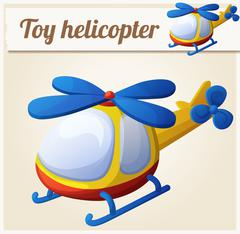 Toy helicopter. Cartoon vector illustration Stock Illustration