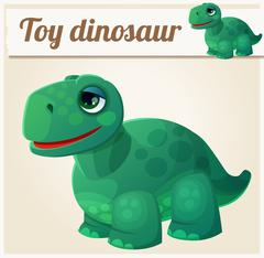 Toy dinosaur 4. Cartoon vector illustration - stock illustration