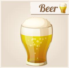 Stock Illustration of Detailed Icon. Glass of beer