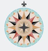 Vintage compass Stock Illustration