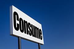 "Message ""Consume"" - stock photo"