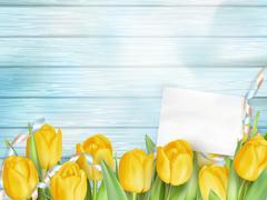 Beautiful bouquet of tulips. EPS 10 - stock illustration