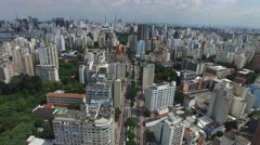 Aerial View of Consolacao Avenue Sao Paulo, Brazil Stock Footage