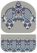 Pattern of purse money design, you can print on fabric to do som Stock Illustration
