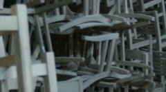Wooden chair manufacturers workshop. Stock Footage
