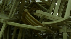 Wooden chair manufacturers workshop. - stock footage