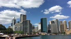 SYDNEY – NOVEMBER 2015: Panoramic view of Sydney Harbour. The city attracts 10 - stock footage