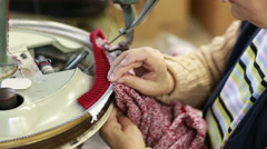 Shot of an old tailor manufacturer. - stock footage