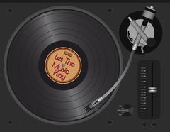 Dj Turntable With LP Stock Illustration