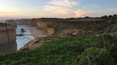 Twelve Apostles at sunset Stock Footage