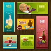 Wine Banners Set Piirros