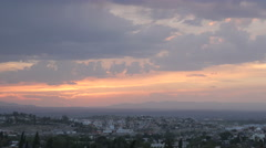 Dramatic sunset timelapse of mountains and traffic in San Miguel de Allende Stock Footage