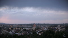 Time lapse sunset of San Miguel de Allende and it's historic church in Mexico Stock Footage