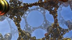 Fractal lattice of gold Stock Footage