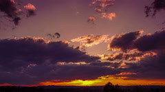 4K source dramatic sunset time-lapse - stock footage