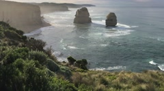 Twelve Apostles at dawn - stock footage