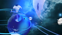 The futuristic model of integration into the Universe. Stock Footage