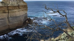 Razorback viewpoint at Great Ocean Road Stock Footage
