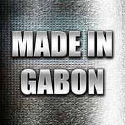 Made in gabon - stock illustration