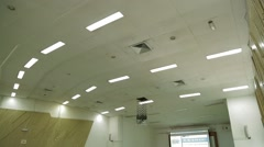 Tilting Shot from Ceiling to Students in Lecture Hall in USM, Malaysia Stock Footage