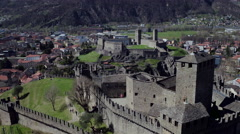 Swiss Great wall in Bellinzona Stock Footage