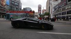 Lamborghini Downtown Stock Footage