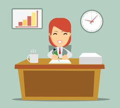 Business person working in office hour Stock Illustration
