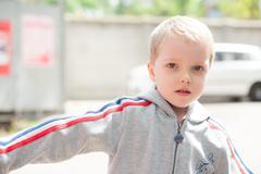 boy with blue eyes - stock photo