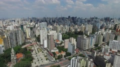 Consolocao Avenue in Sao Paulo, Brazil Stock Footage