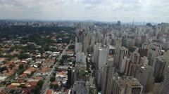 Flying over Sao Paulo, Brazil Stock Footage