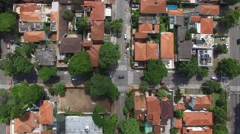 Top view of a city - stock footage