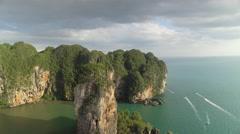 Ao Nang Beach Thailand Drone Scene Stock Footage