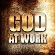 Stock Illustration of god at work