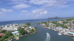 Town to sea - St Lucia Stock Footage