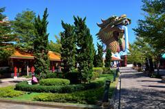 Dragon Statue at Suphanburi city pillar shrine - stock photo