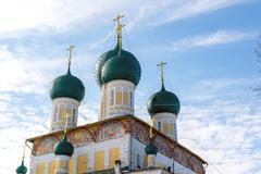 Resurrection Cathedral in Tutaev, Russia. Golden Ring Travel - stock photo