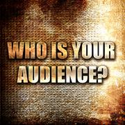 who is your audience - stock illustration