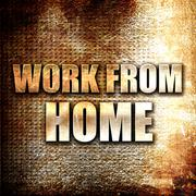work from home - stock illustration