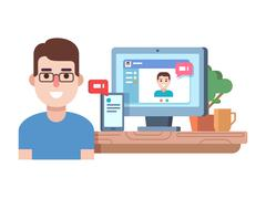 Online chat technology Stock Illustration