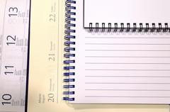 Blank spiral notepad Stock Photos