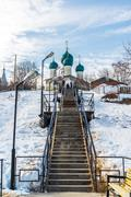 Tutaev, Russia - March 28, 2016.  Resurrection Cathedral in Tutaev, Russia Stock Photos