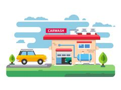 Car wash station Stock Illustration