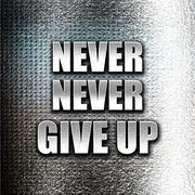 never give up - stock illustration